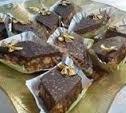 Recette Losanges de biscuits et de pâte d'amandes