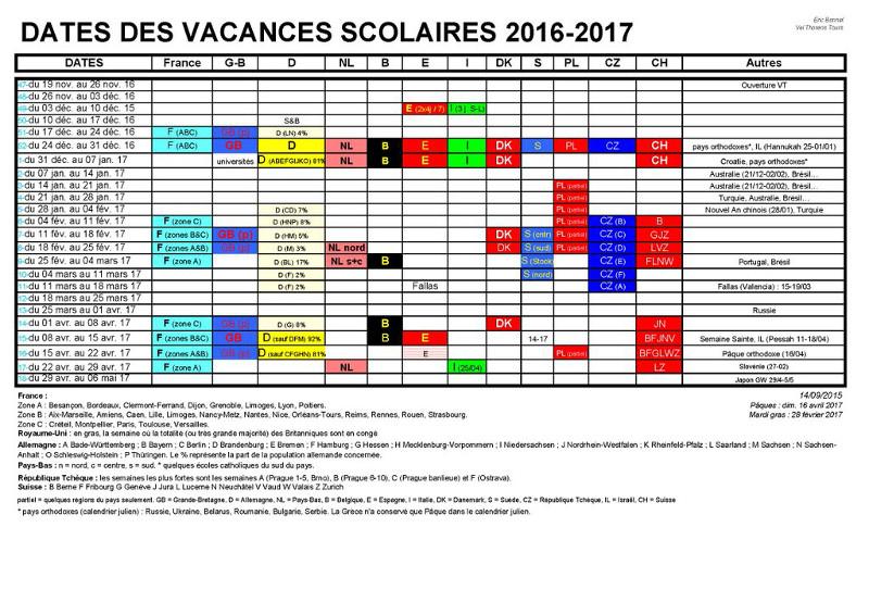 Voici la liste de tous les cong s scolaires avec les dates partir de septembre 2016 riad - Vacances scolaires de noel 2016 ...